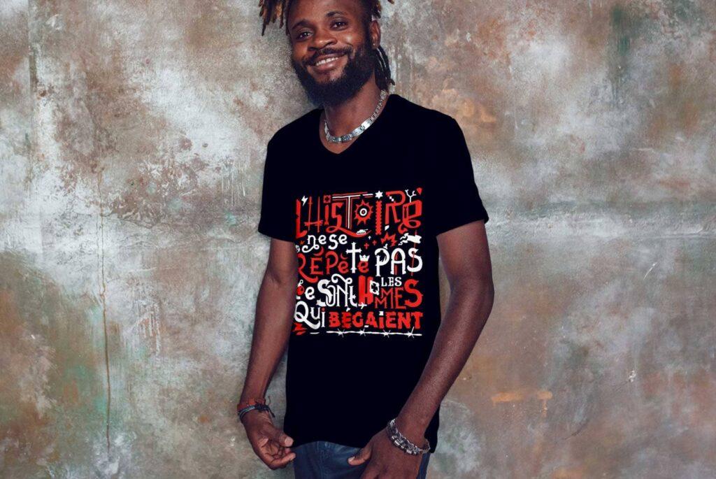 Histoire des Hommes tee shirts