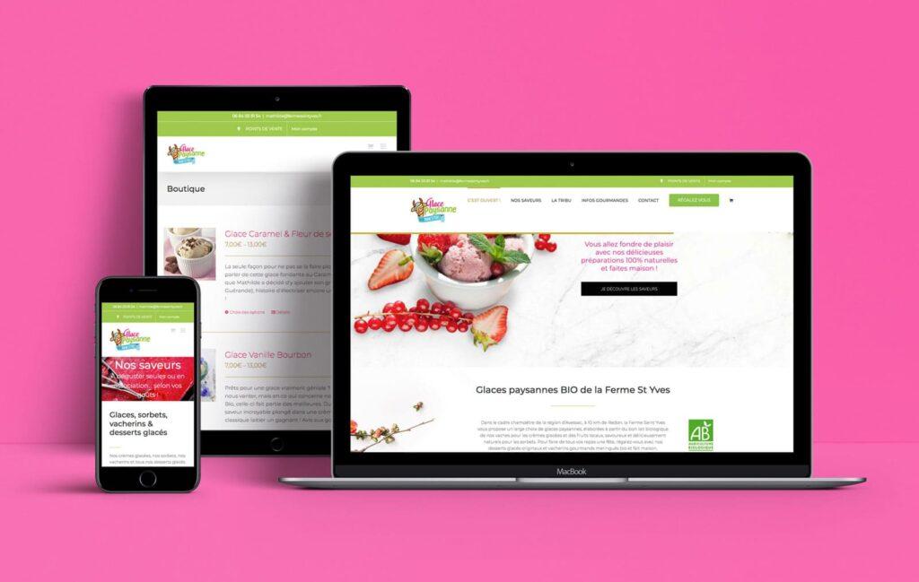 e-boutique glaces paysannes BIO